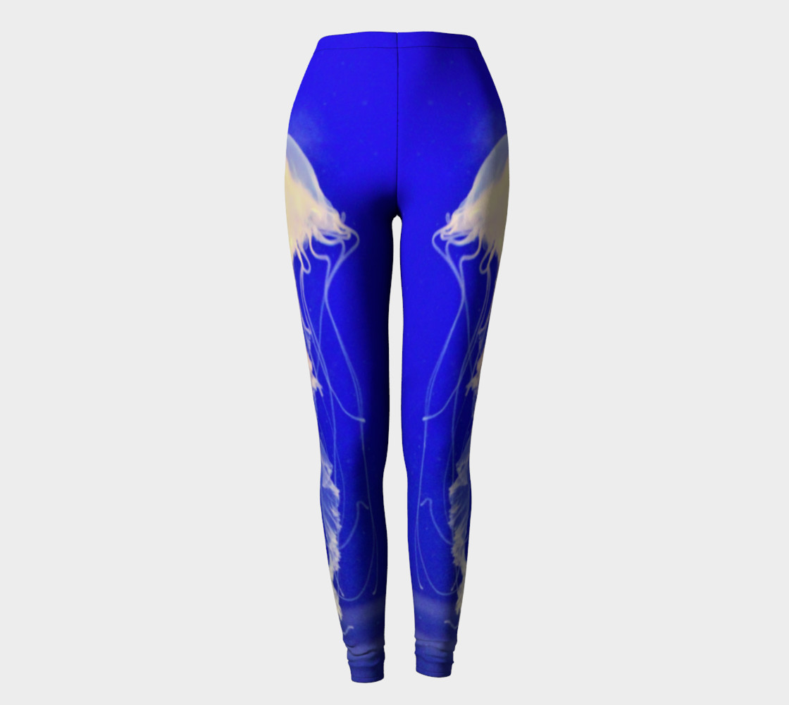 Jelly Black Light Reactive  Blue Leggings preview #2