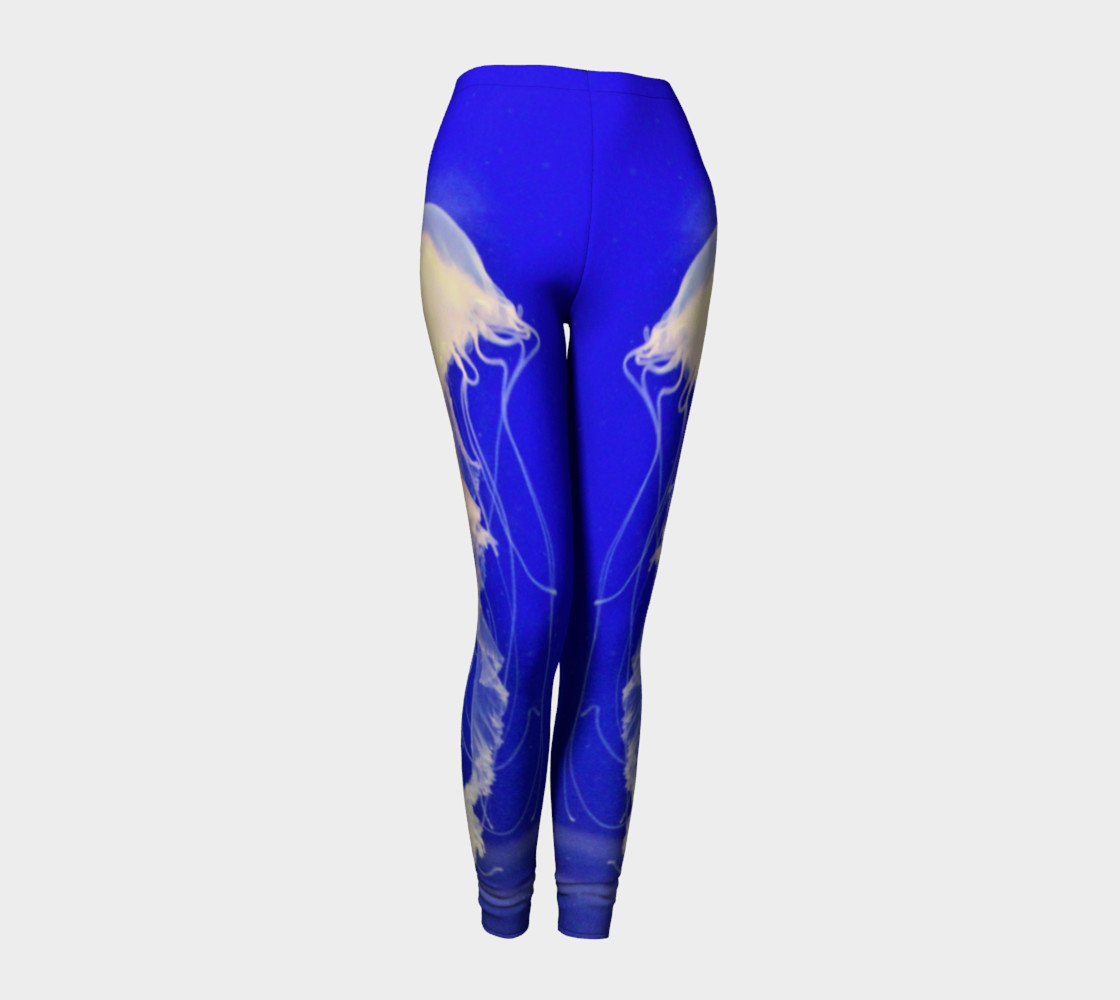 Jelly Black Light Reactive  Blue Leggings preview #1