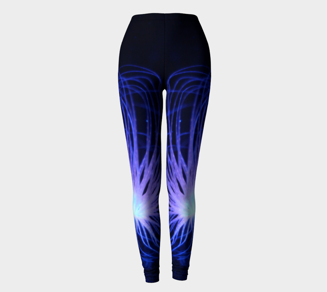 Black light Reactive Anemone Leggings preview #2