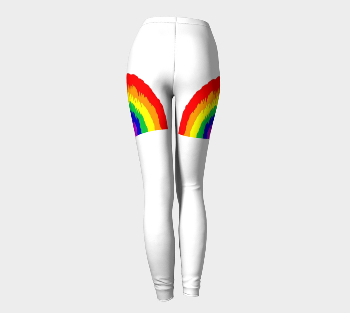Dripping Rainbow Leggings preview #4