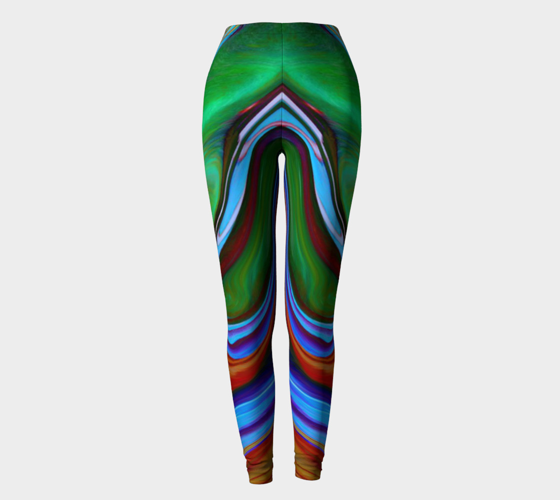 """Glass 7 abstract"" leggings Miniature #3"
