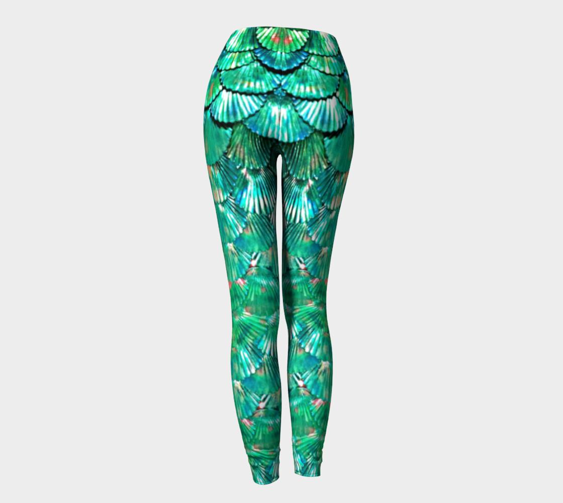 Green Mermaid Scale Leggings  preview #4