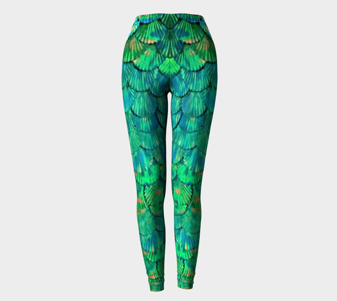 Green Mermaid Scale Leggings  preview #2