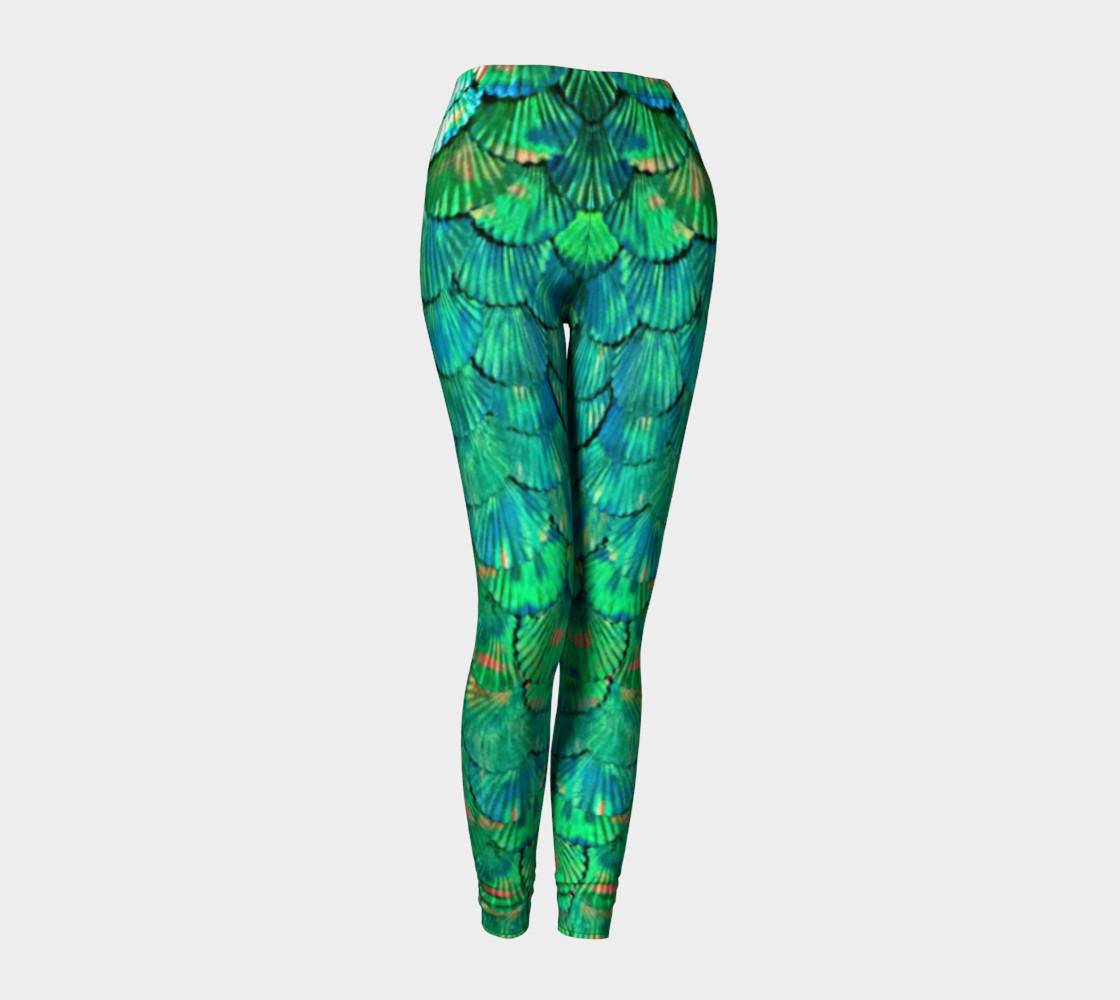 Green Mermaid Scale Leggings  preview #1