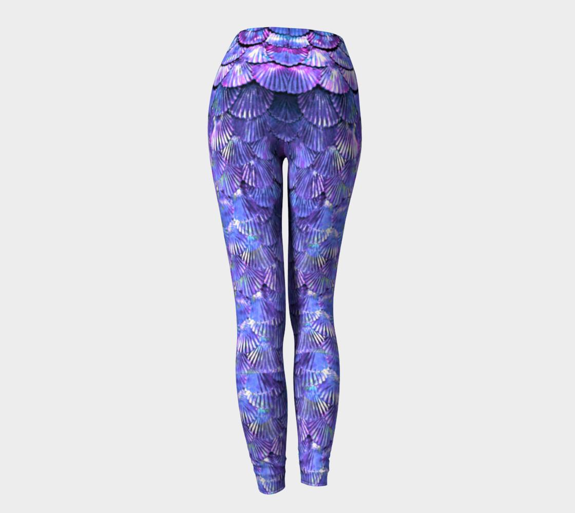 Purple Large Scale Mermaid Leggings  preview #4