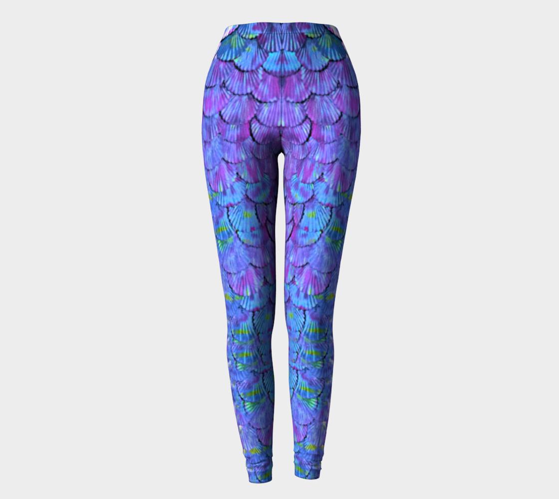 Purple Large Scale Mermaid Leggings  preview #2