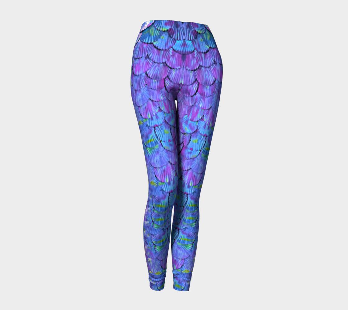 Purple Large Scale Mermaid Leggings  preview #1