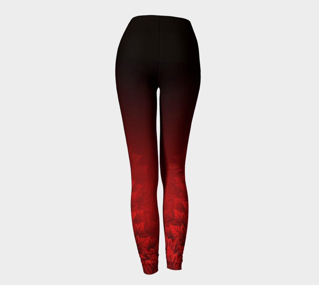Autumn Leaves Leggings Canada Stretchy Pants preview #4