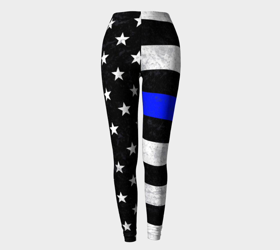 Thin Blue Line Leggings preview #2