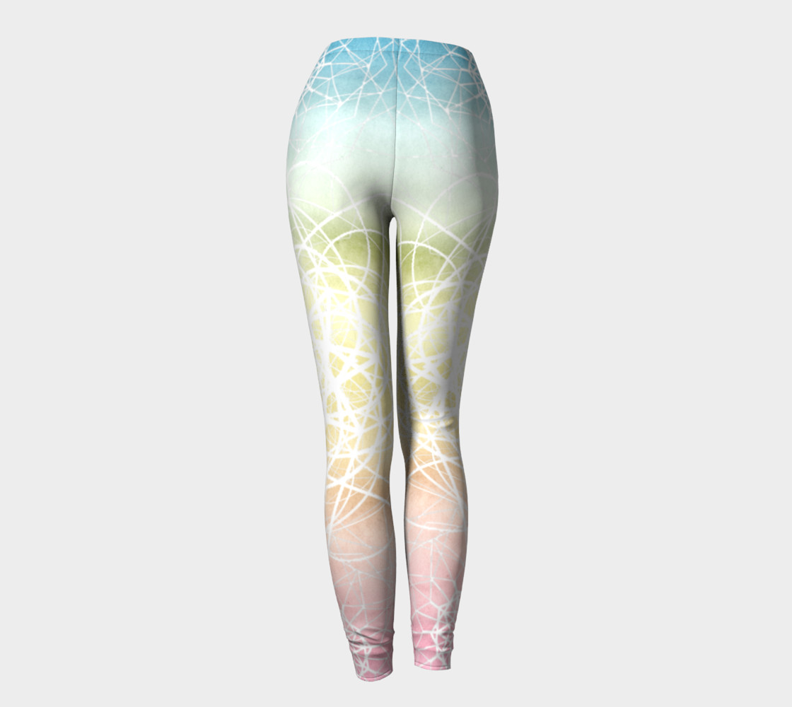 Pastel Sacred Geometry Leggings preview #4