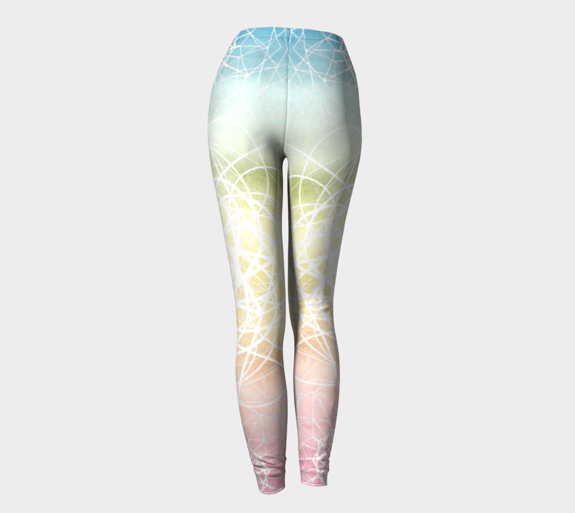 Aperçu de Pastel Sacred Geometry Leggings #4