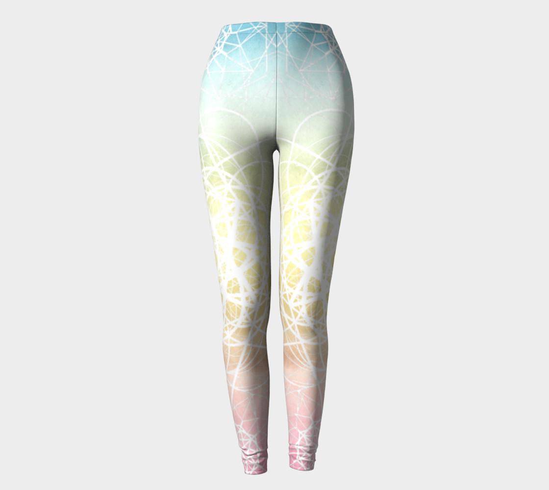 Aperçu de Pastel Sacred Geometry Leggings #2
