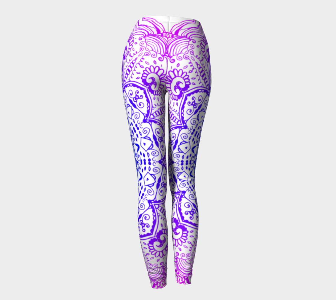 Purple Psychedelic Leggings preview #4