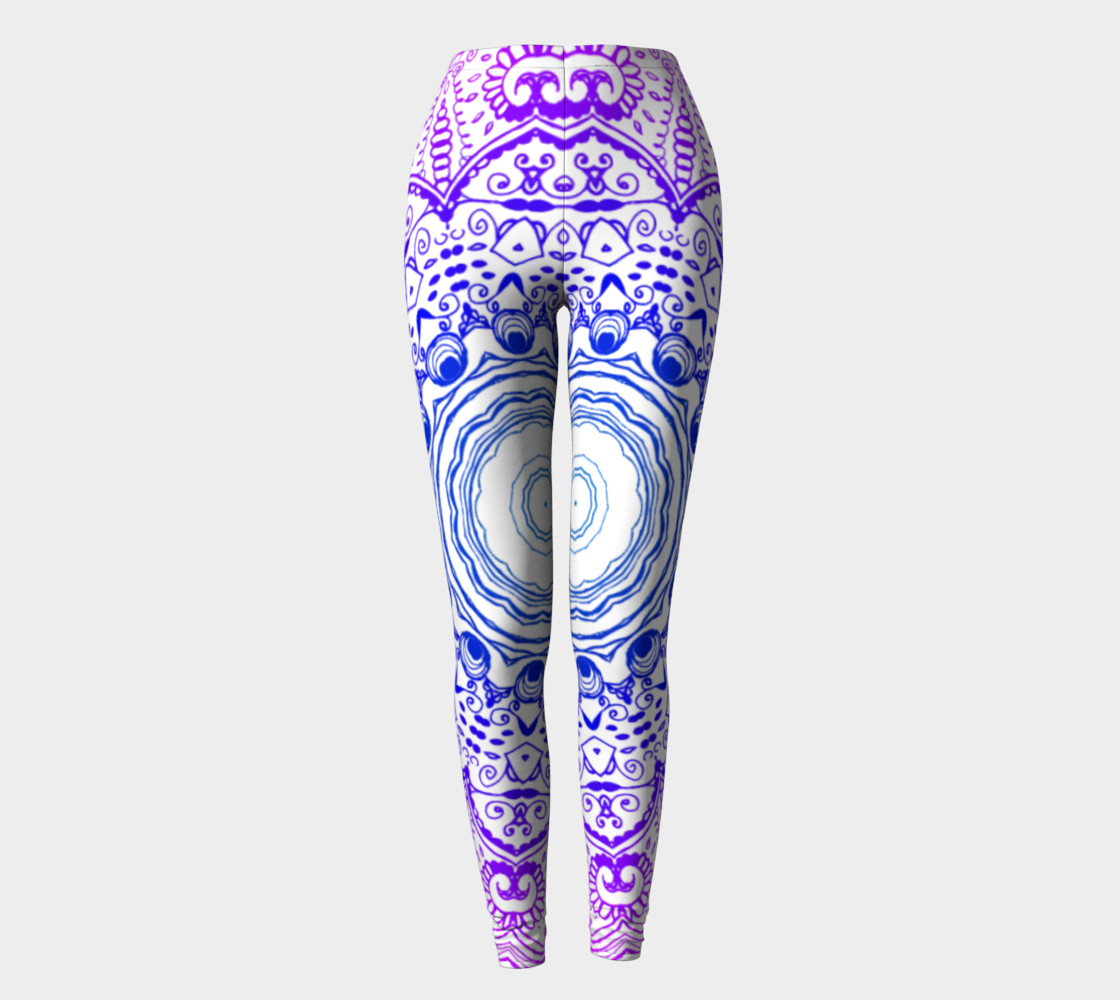 Purple Psychedelic Leggings preview #2