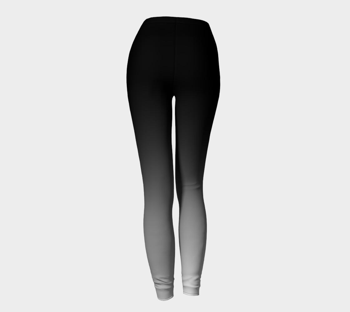 Aperçu de Obre Black and White two tone leggings #4