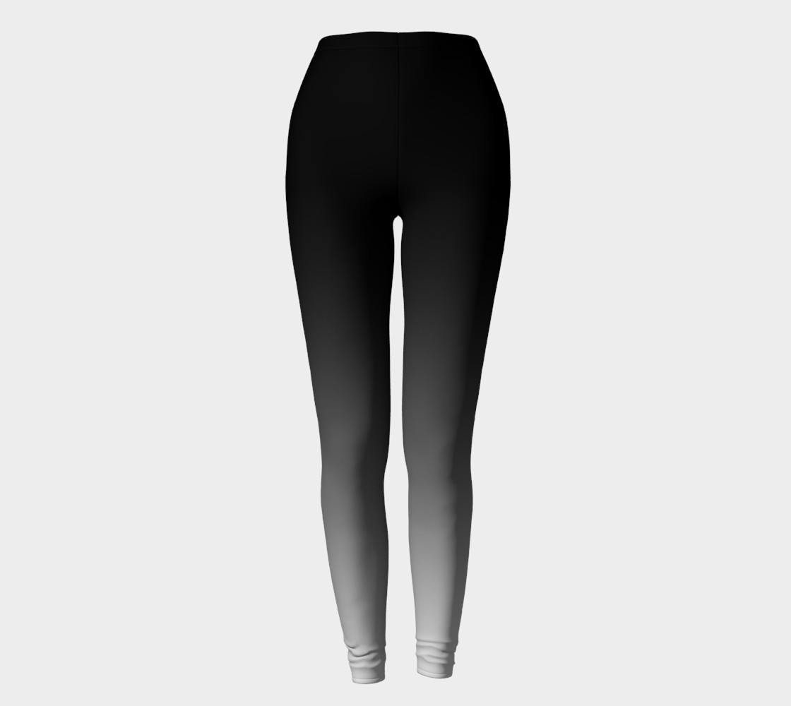 Aperçu de Obre Black and White two tone leggings #2