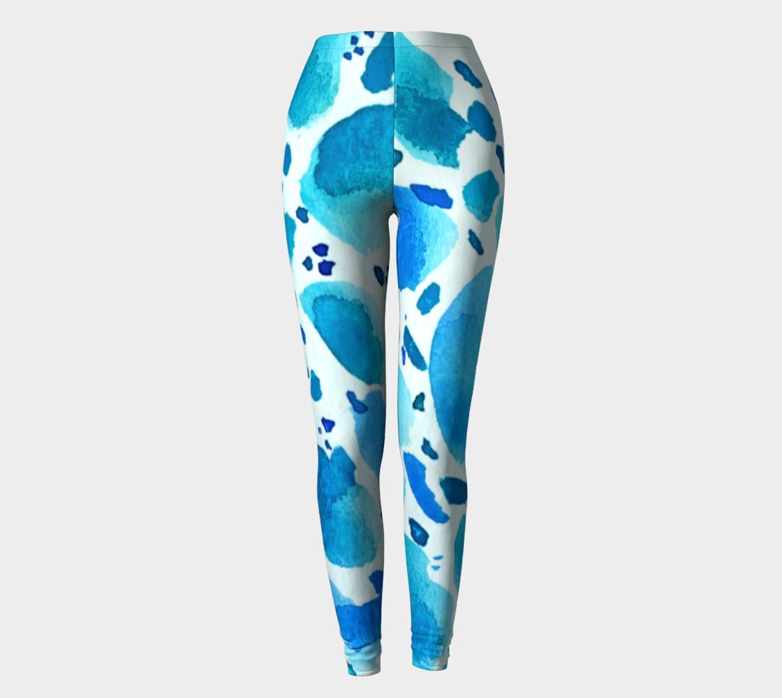 Blue Watercolour Dalmatian Pattern preview #2