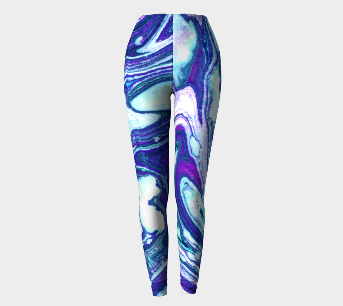 Jillian Marble Purple Teal Legging preview #2