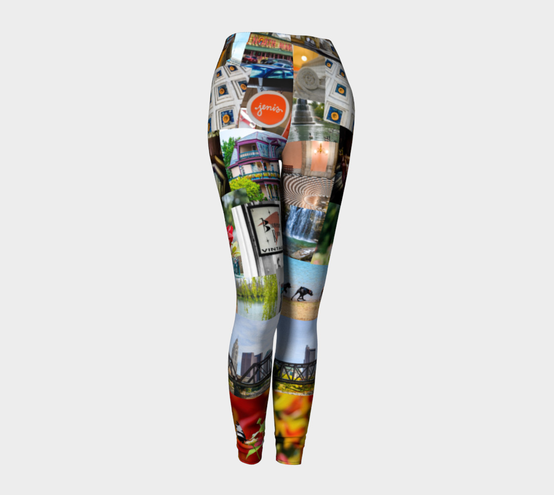 Cool Columbus - Ohio Tiled Leggings thumbnail #2