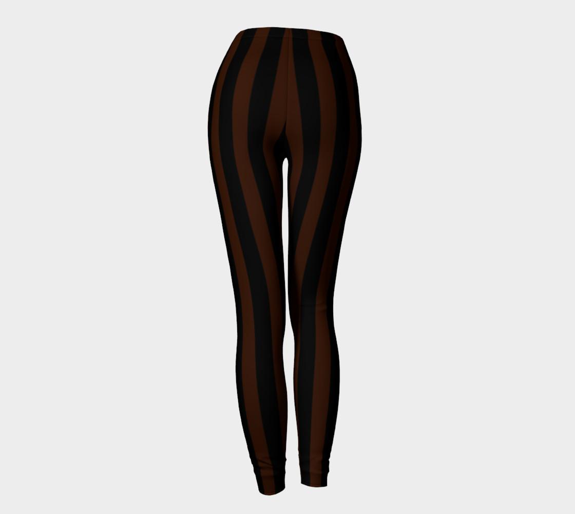 Black and Brown Steampunk Stripe Leggings preview #4