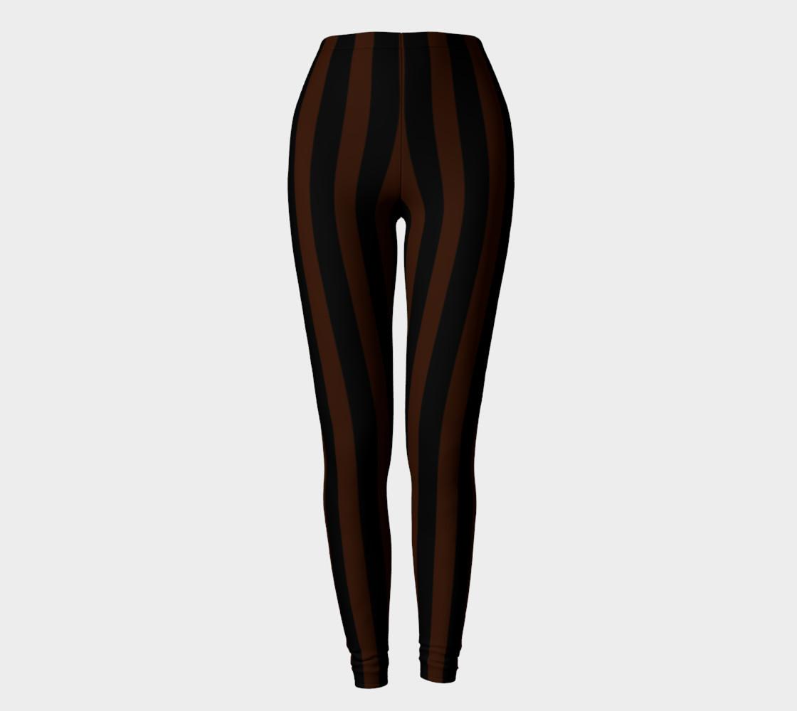 Black and Brown Steampunk Stripe Leggings preview #2