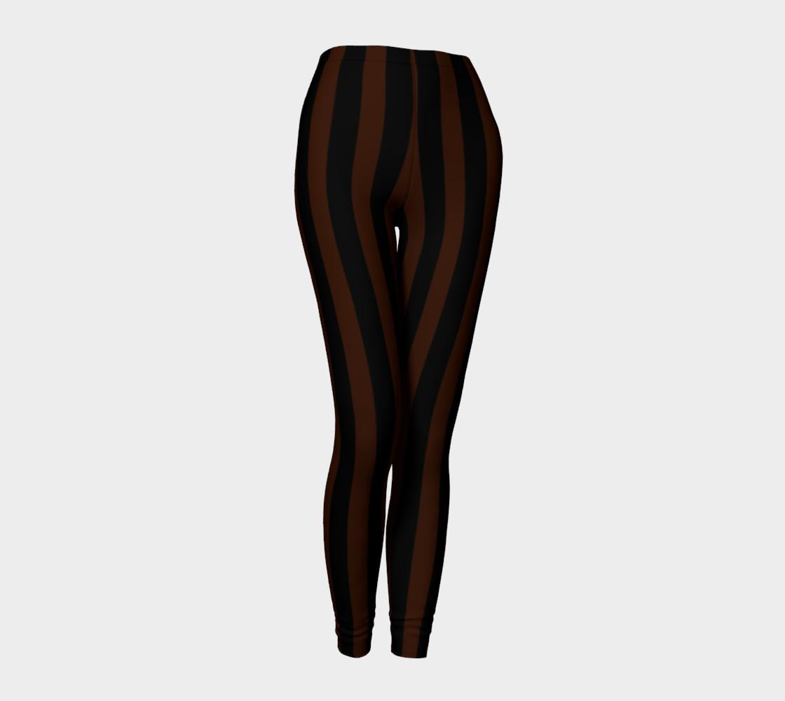 Black and Brown Steampunk Stripe Leggings preview #1