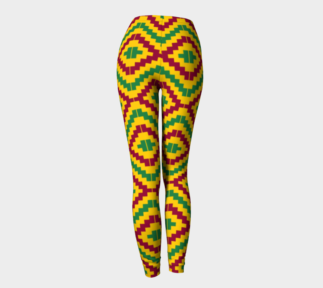 Aperçu de African Kente Print Pattern Leggings #4