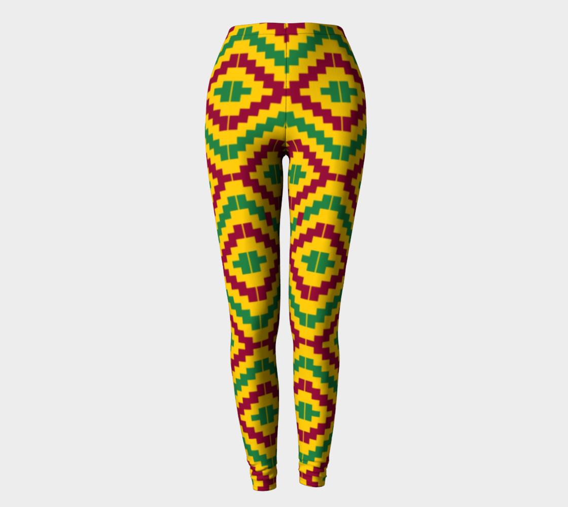 Aperçu de African Kente Print Pattern Leggings #2