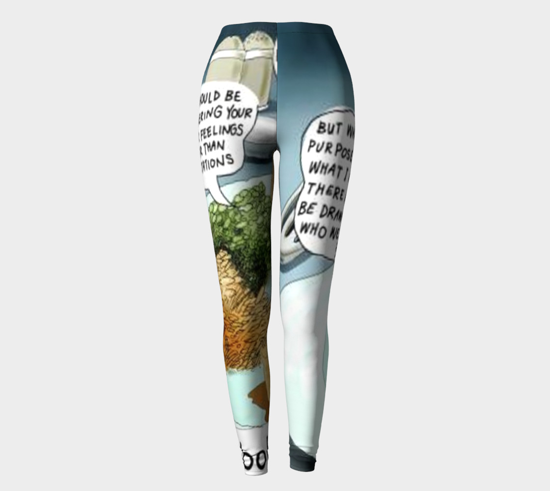 Funny Complex Carbohydrates Leggings by Rick London preview #2