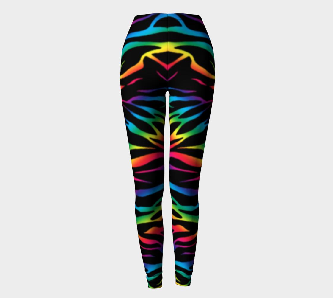 Rainbow Zebra Leggings preview #2