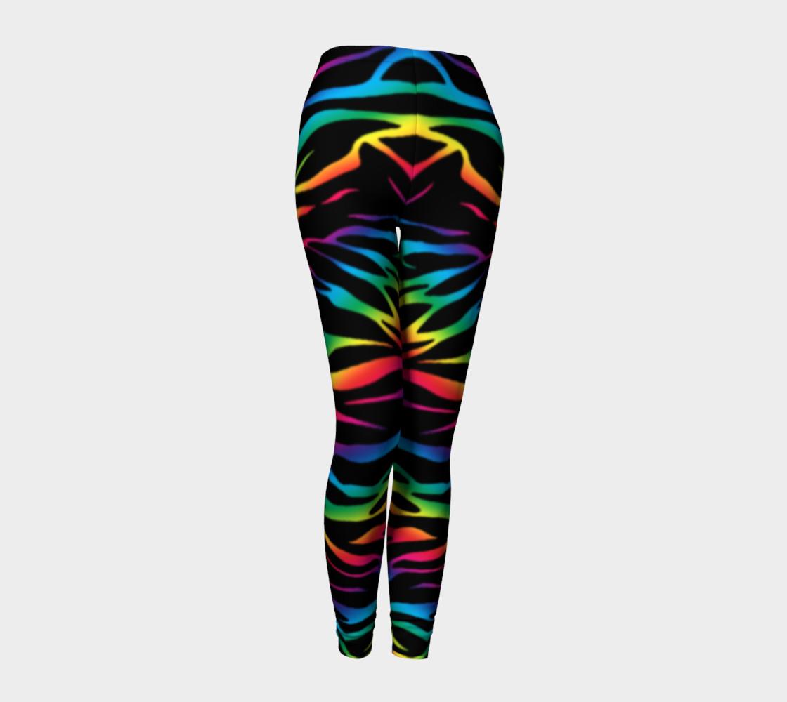 Rainbow Zebra Leggings preview #1