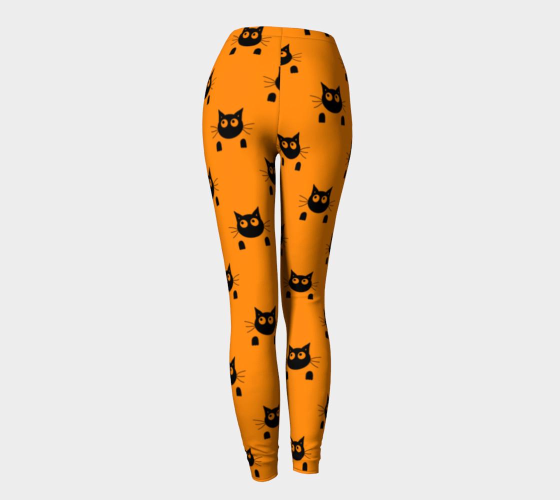 Halloween Cat Leggings preview #4