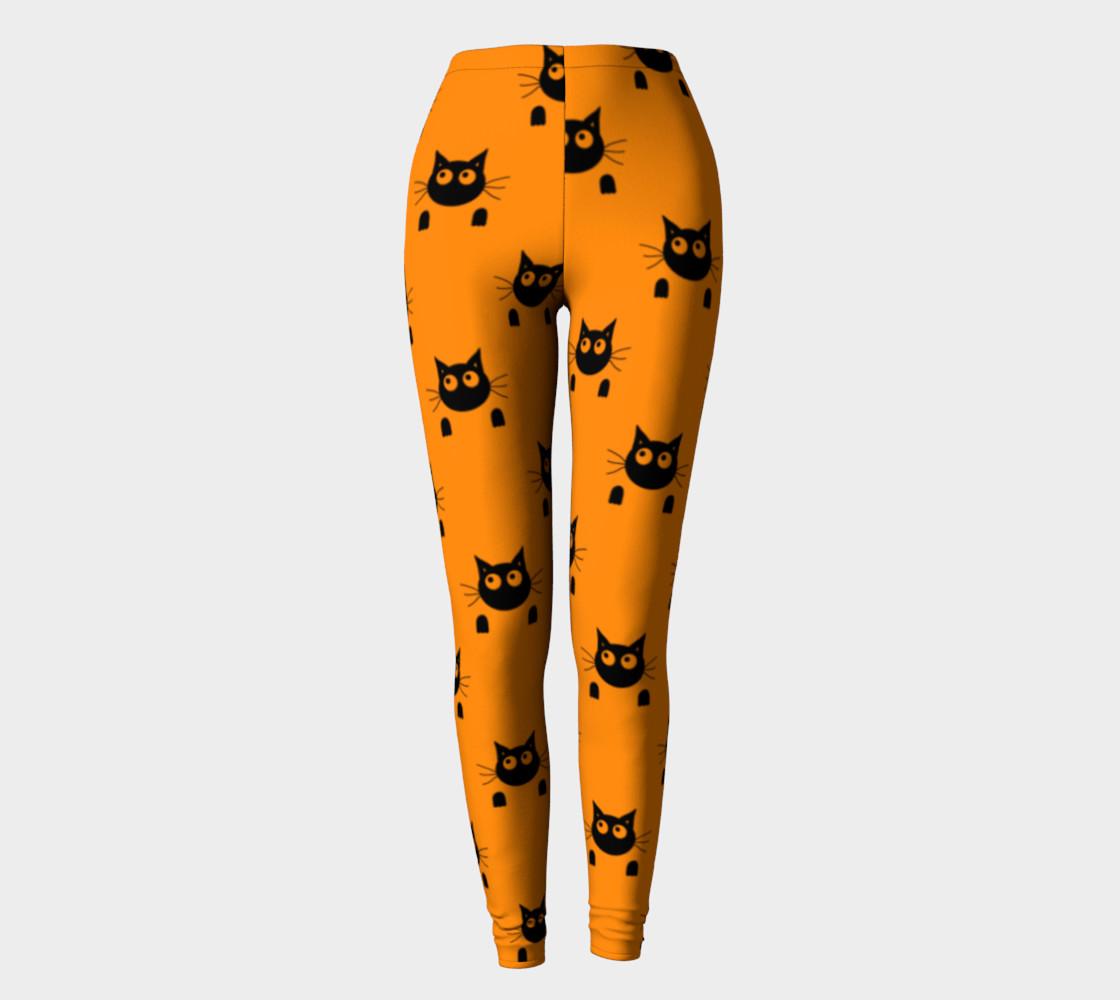 Halloween Cat Leggings preview #2