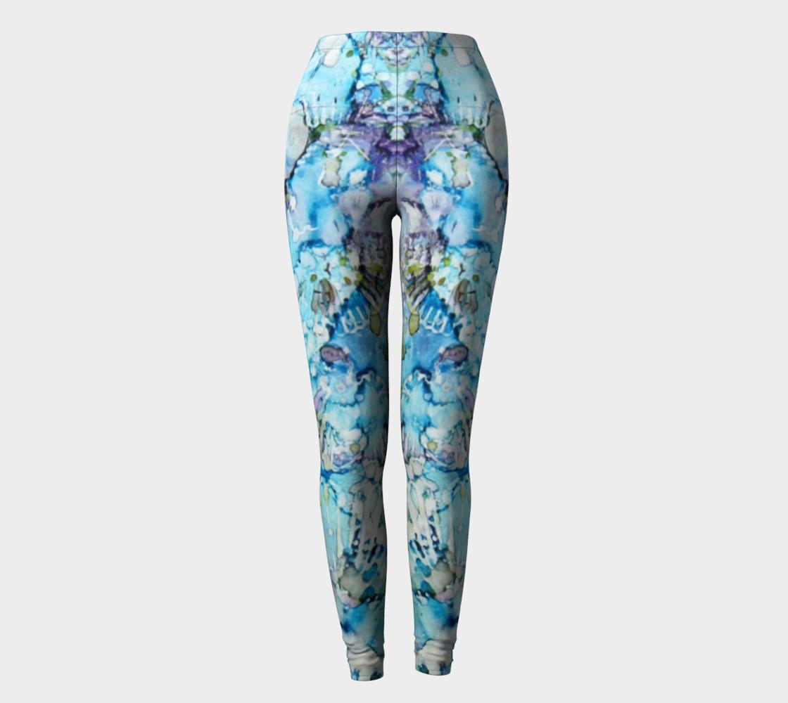 Butterfly Blu Ink #25 Yoga Leggings preview #2