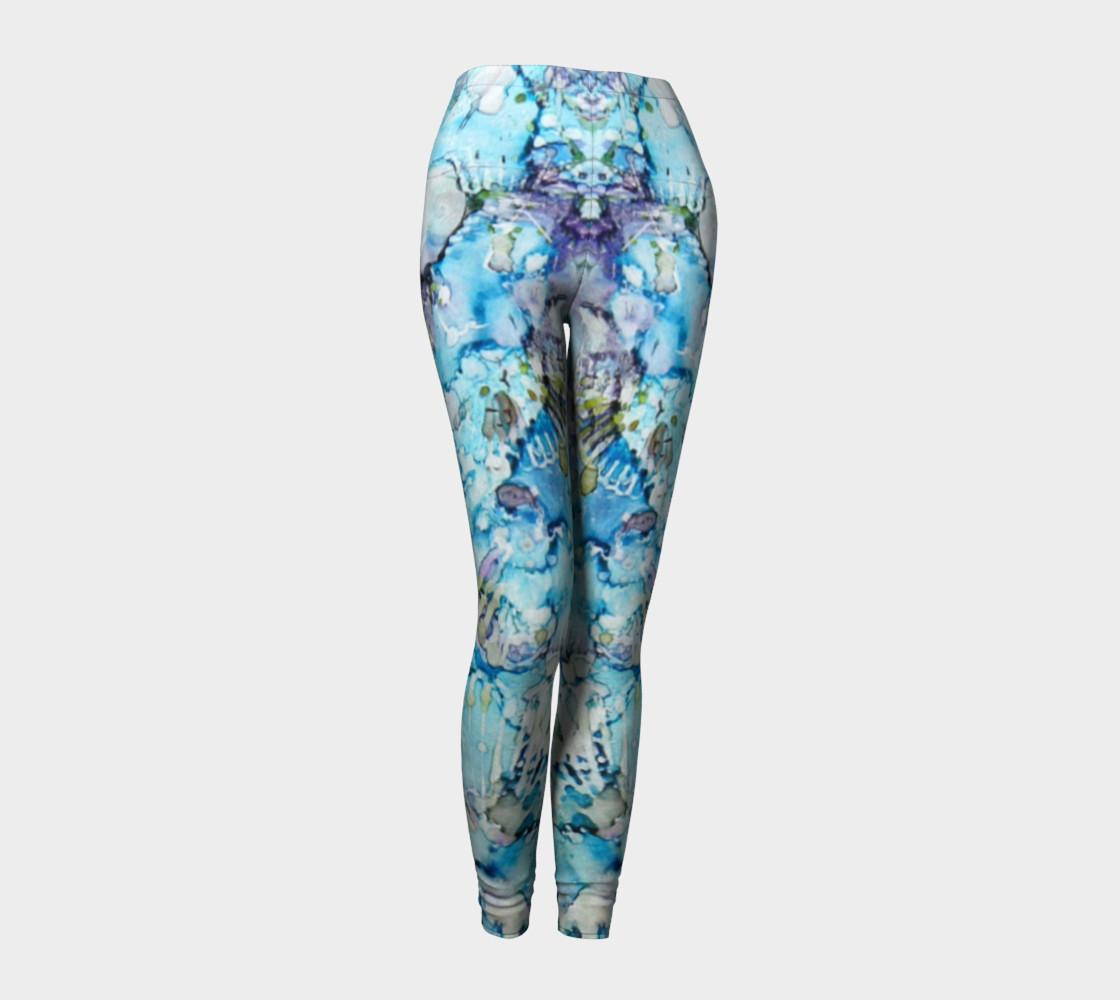 Butterfly Blu Ink #25 Yoga Leggings preview #1