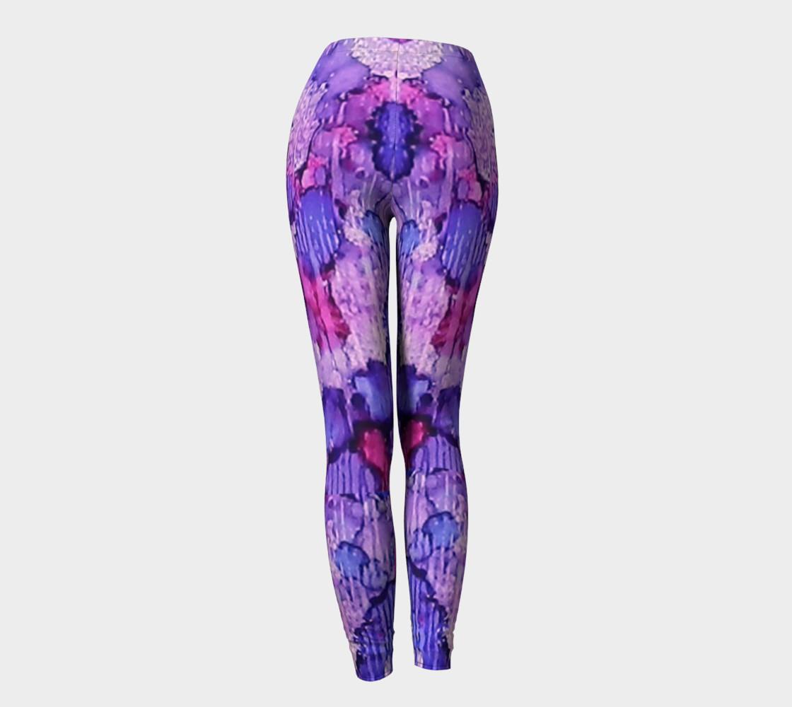 Raspberry Rain Ink #19 Yoga Leggings preview #4