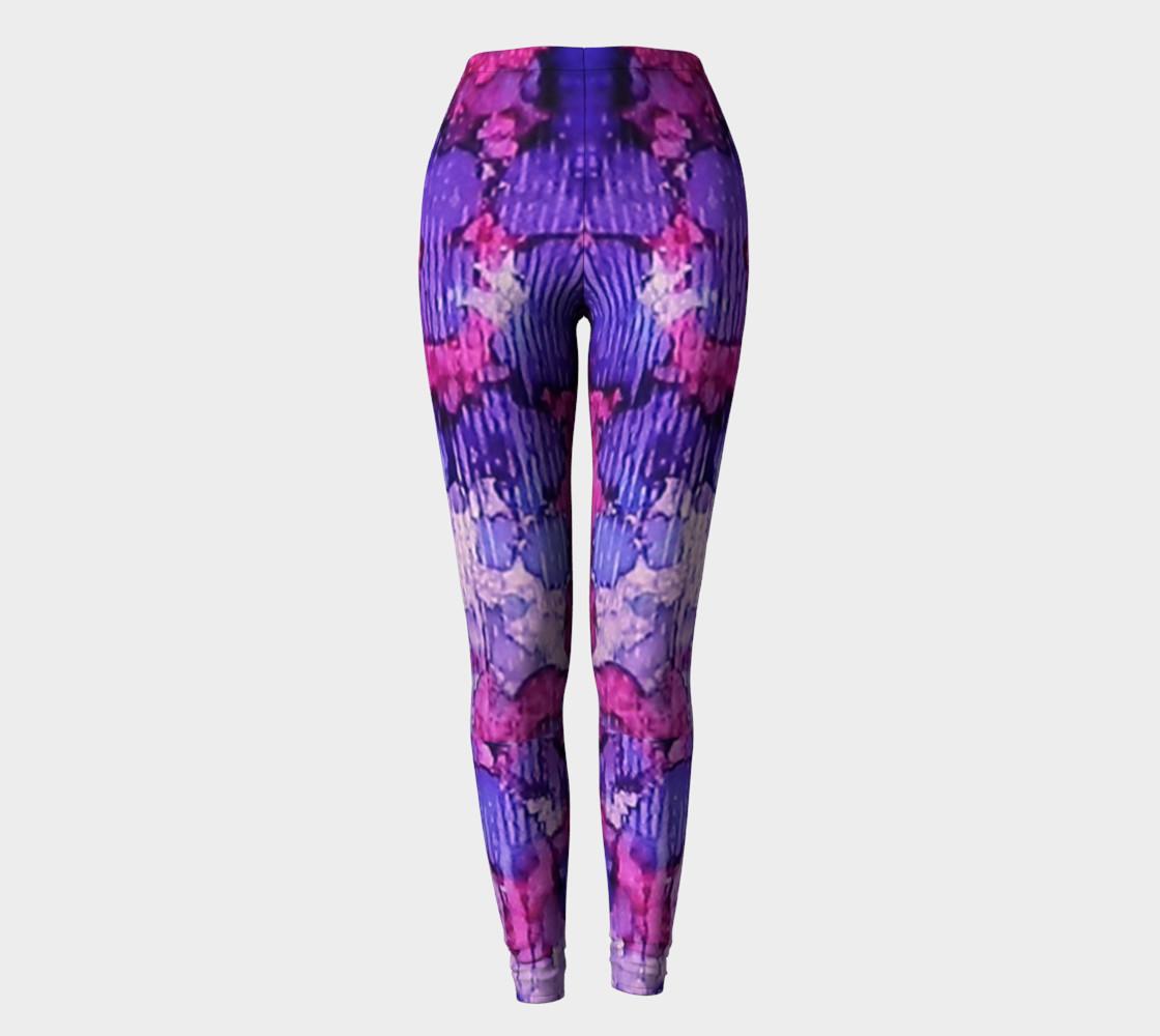 Raspberry Rain Ink #19 Yoga Leggings preview #2