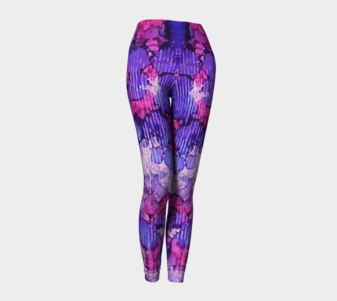 Raspberry Rain Ink #19 Yoga Leggings preview #1