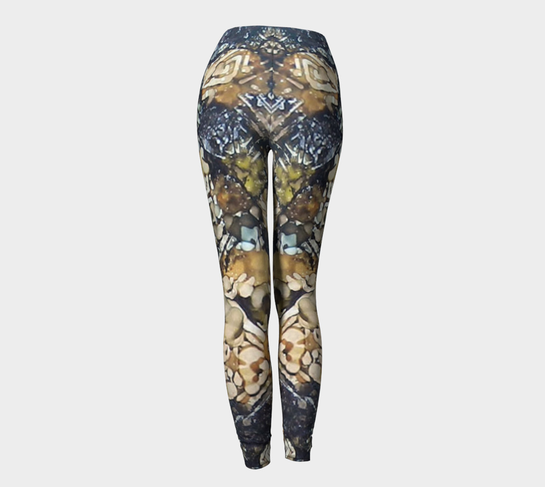 Bark Batik Ink #22 Yoga Leggings preview #4