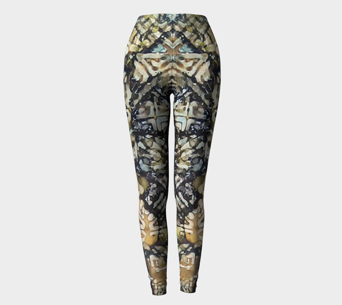 Bark Batik Ink #22 Yoga Leggings preview #2