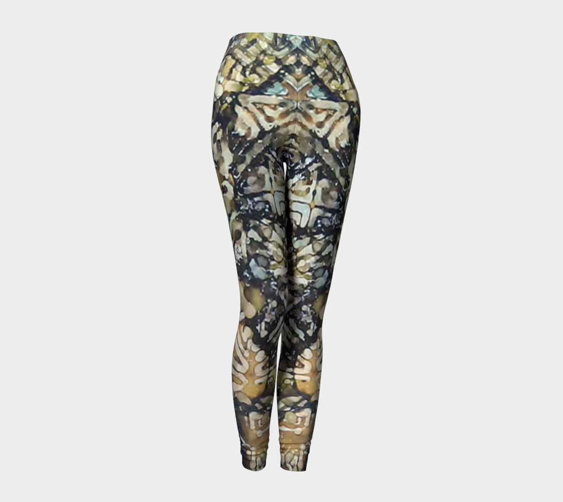 Bark Batik Ink #22 Yoga Leggings preview #1