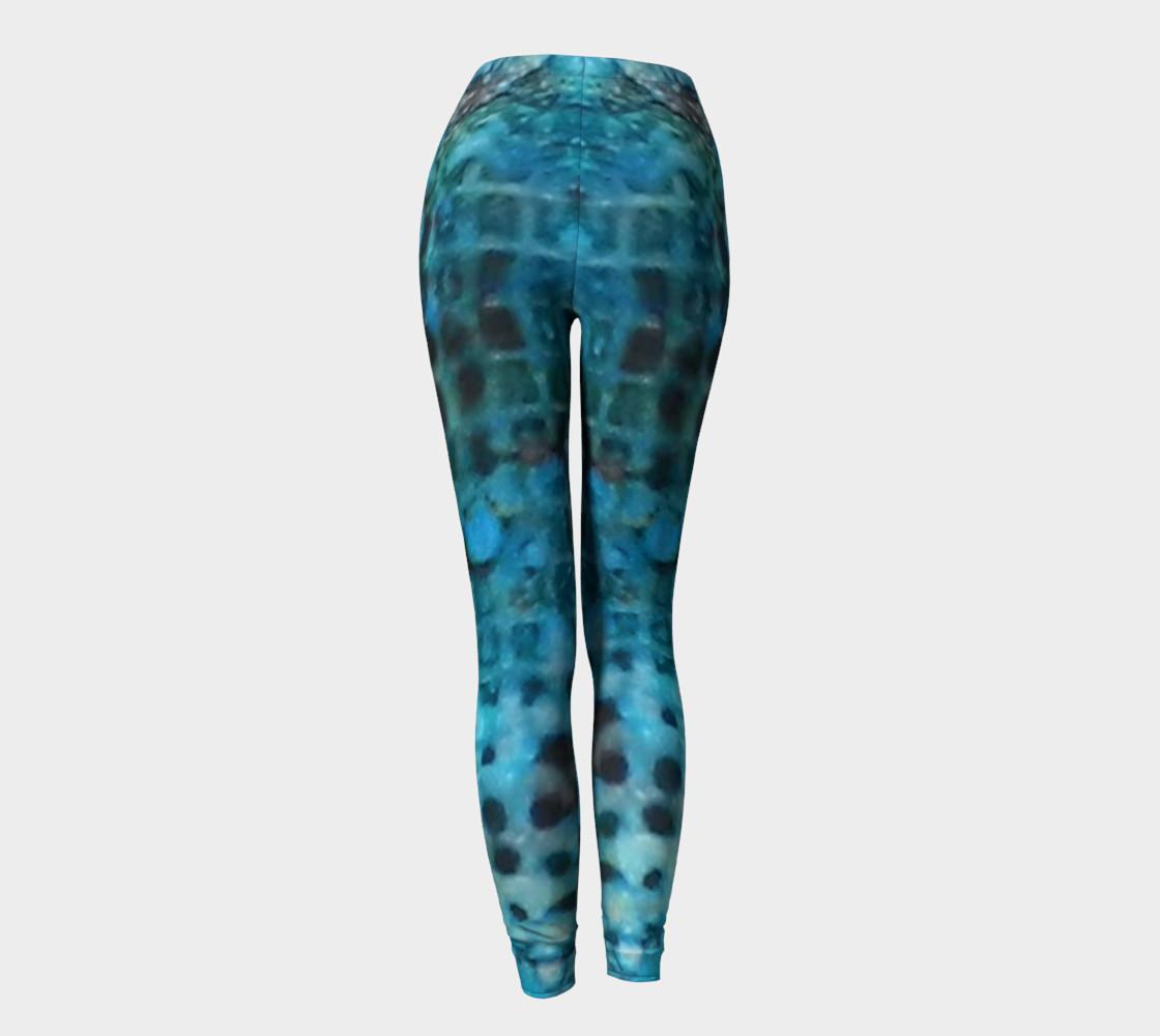 Cerulean Dream Ink #23 Yoga Leggings preview #4