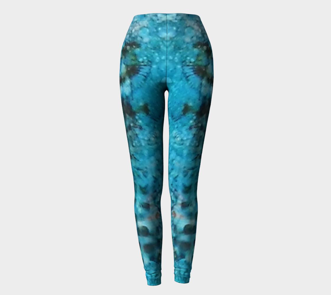 Cerulean Dream Ink #23 Yoga Leggings preview #2