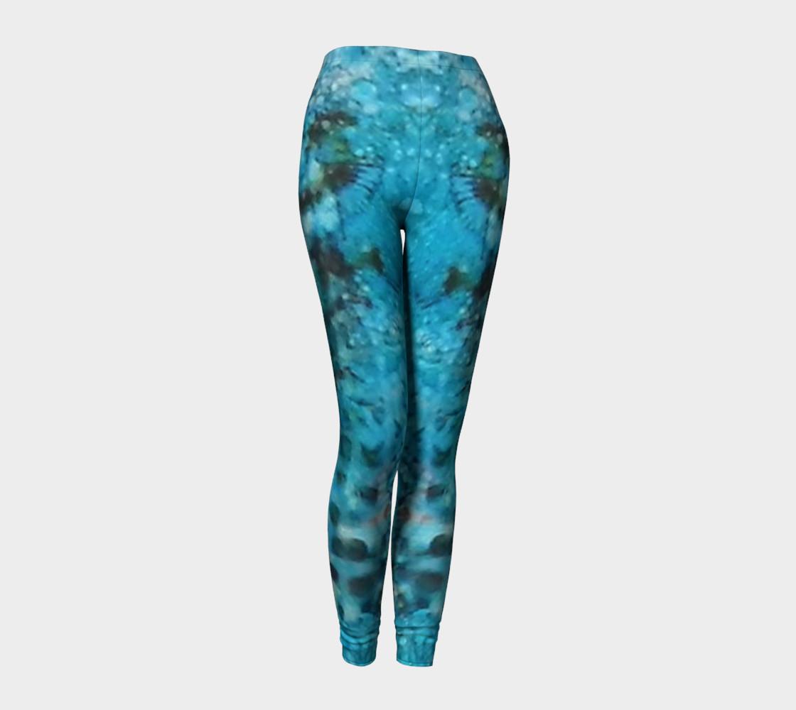 Cerulean Dream Ink #23 Yoga Leggings preview #1