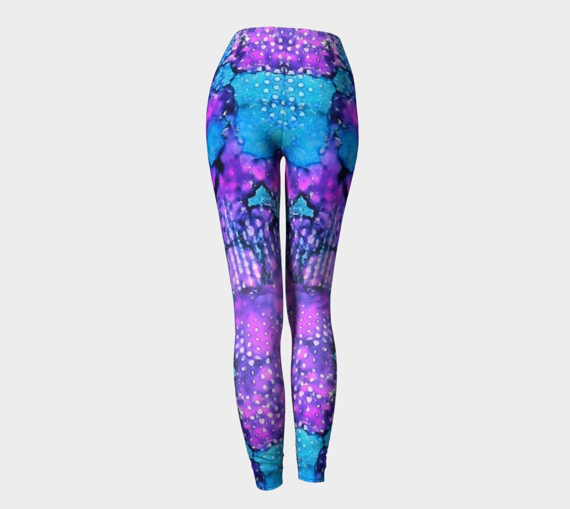 Violet Clouds Ink #24 Yoga Leggings preview #4