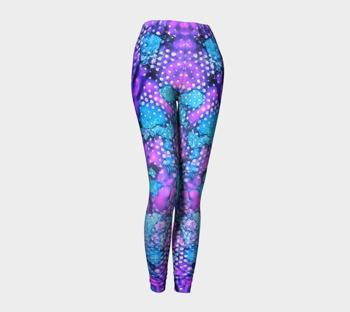 Violet Clouds Ink #24 Yoga Leggings preview #1