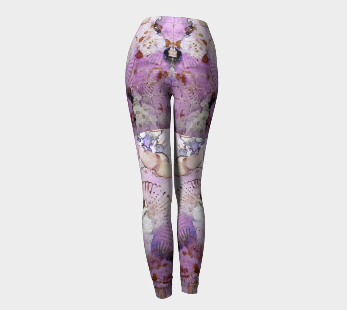 Lavender Mornings Ink #6 Yoga Leggings preview #4