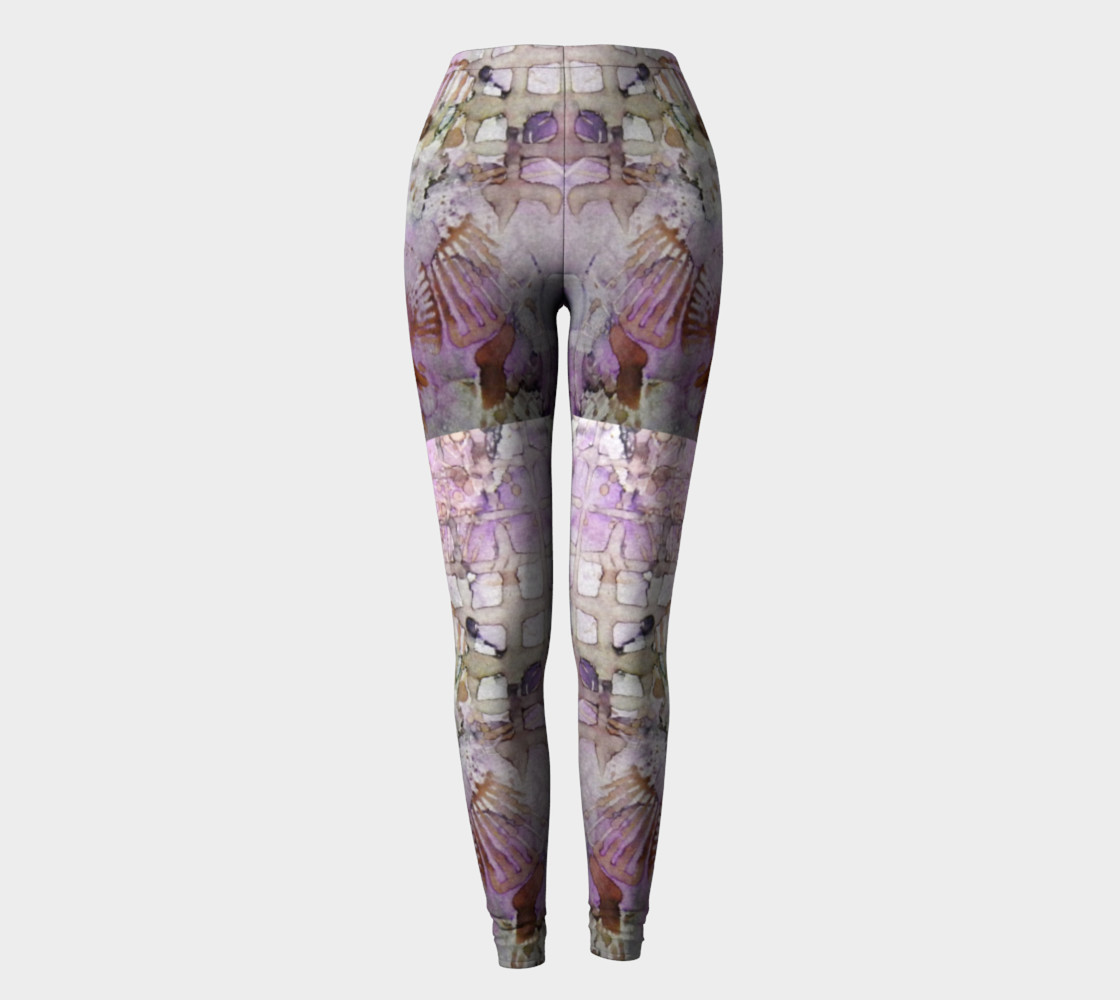 Lavender Mornings Ink #6 Yoga Leggings preview #2
