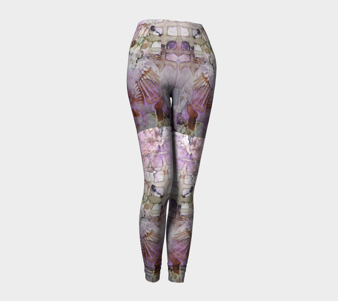 Lavender Mornings Ink #6 Yoga Leggings preview #1
