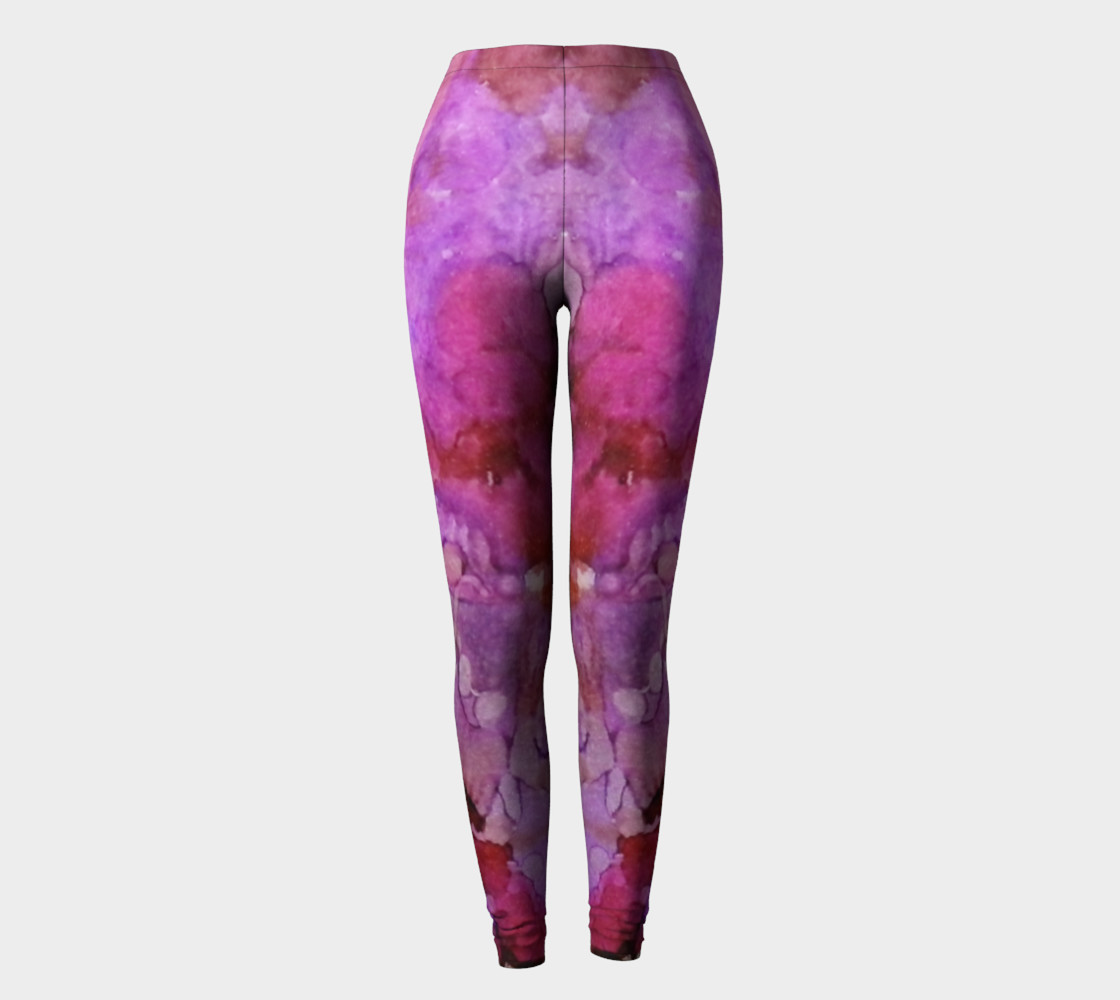 Blossoms Ink #1 Yoga Leggings preview #2